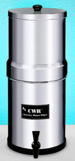 CWR Gravity-Feed Stainless-Steel Filter, Large
