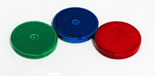 .985  x .156 Colored Ceramic Round Magnet