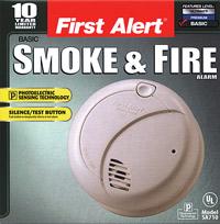 Photoelectric Smoke Detector, Battery Model