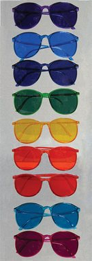 Color Therapy Glasses, Set of 9