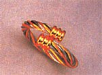 Magnetic Ring, Gold/Silver Twist