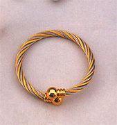 Magnetic Bracelet, Gold/Silver Twist
